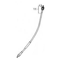 11-orignal speedometer cable gray for Honda Dax ST CT