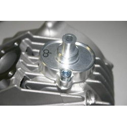 Air breather cap for YX and KLX engine Opus in silver