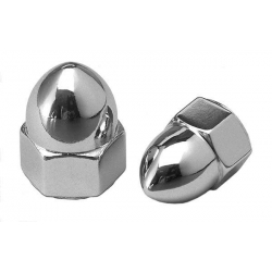 Acorn nut M10 x 1.25 chrome