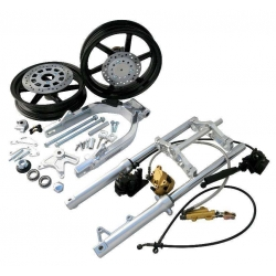 Nsr fork, wheels and swingarm kit Kepspeed for Dax