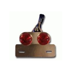 double round rearlights on alu plate