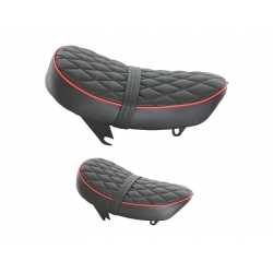 Seat Monkey Kepspeed Low diamond black with red piping