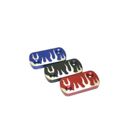 Brake tank cap CNC tribal blue black red