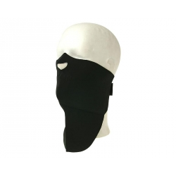 NECK WARMER Black with face mask