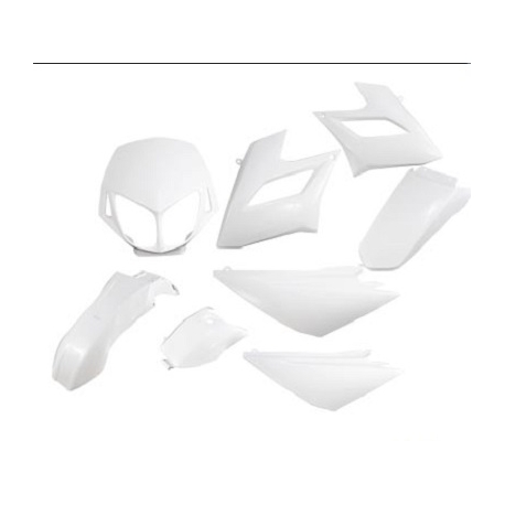 Fairing - cover set Derbi Senda DRD racing / limited from 2004 to 2010, white