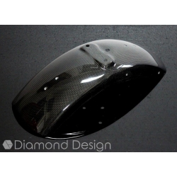 Carbon fibers front fender for Honda Dax ST CT 6V (OT). By Diamond Design
