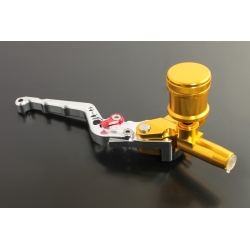 Brake master cylinder double hydro CNC Silver and Gold