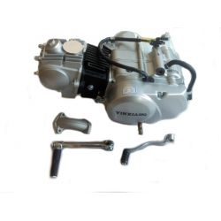 YX 125cc engine silver with electric starter