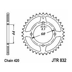 rear sprocket Yamaha DT-R, MBK X Limit, 48 or 52 teeth