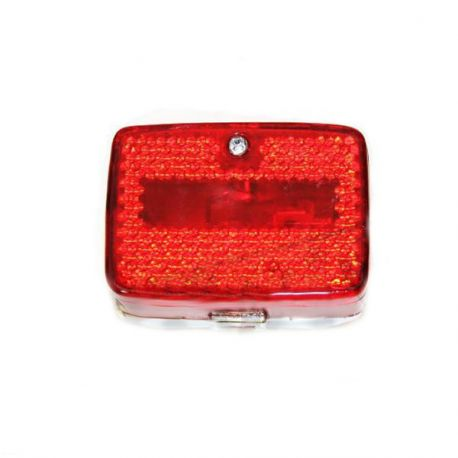Rear light Puch Maxi and moped - chrome small model, red or clear lens