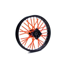 Colored wheel spoke cover set