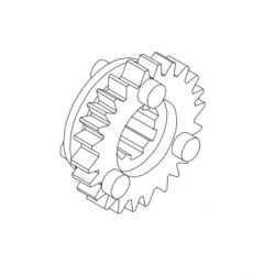 5th gear pinion 21 teeth on secondary shaft for 5 speed gearbox S-touring Takegawa 23501-181-T00