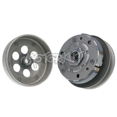 Pulley + clutch + bell CPI - Keeway - Generic - Neco - Roma complete diameter : 110 mm