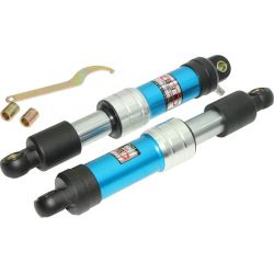 Achterveren set oleo pneumatic look blauw 290mm