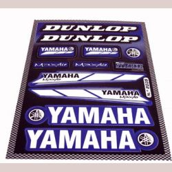 Stickers set Yamaha - Dunlop blue