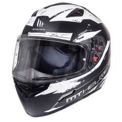Helmet MT Mugello Vapor Black & white mat