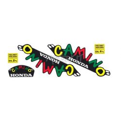 "Fuel tank stickers set Honda Camino ""Carnival"""