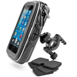 Universal bracket for Smartphone or GPS waterproof on handlebar