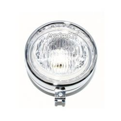 Universal round headlight chrome - Puch classic diam. 130 mm