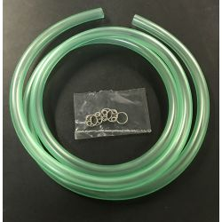 Fuel hose PVC clear green Ø5mm x 1m Kitaco