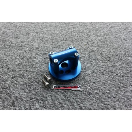 Handlebar clamp CNC for Cub blue