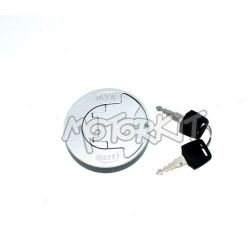 Flat fuel tank cap with lock for Honda Monkey