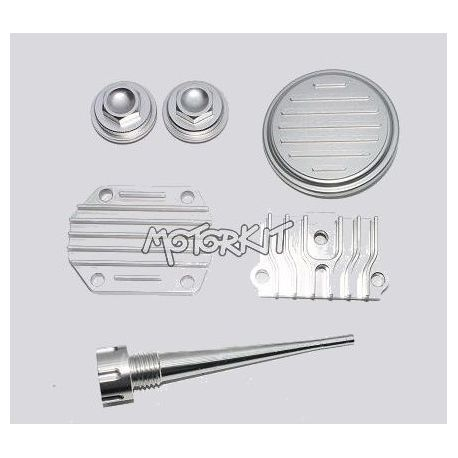 Cylinder head CNC silver cover set for Lifan YX 125 - 140 cc engines