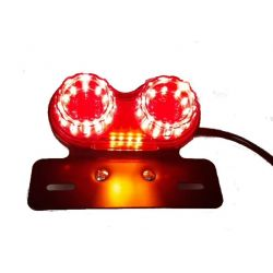 Universal leds double rear lights with winkers - redglass