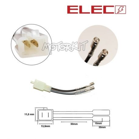 Wiring - winker connection adapter. A: 2 flat male terminals / B: Double on
