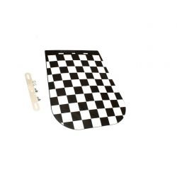checkered fender flap - universal