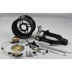 Kepspeed 5.5 Wide +6 cm Black Swingarm Pack for Honda Dax ST CT and Skyteam TNT City