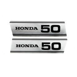 Sticker / decal set for side panel Honda SS50 PC50 - repro