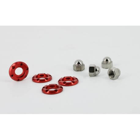 Kitaco shock absorber nuts and washers for Honda Monkey 125cc - various colors