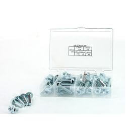 M6 screws set different lengths with hexagon and cross recess