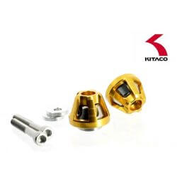 Kitaco gold handlebar end caps for Honda Monkey 125 (JB02)