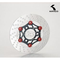 Kitaco brake disc for Honda NSR - NSF - APE - XR Motard Black- red 220mm