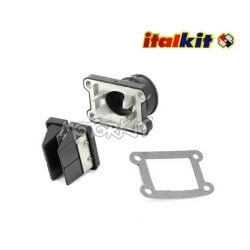 Italkit racing reed valves box with manifold Doble Prisma 8 petals for AM6 / Derbi