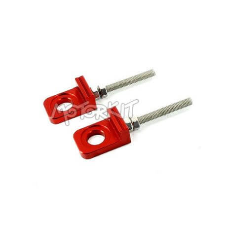 Chain adjusters for swingarm Kepspeed Cub red