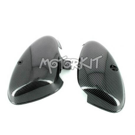Pair of carbon look side covers for Honda Cub