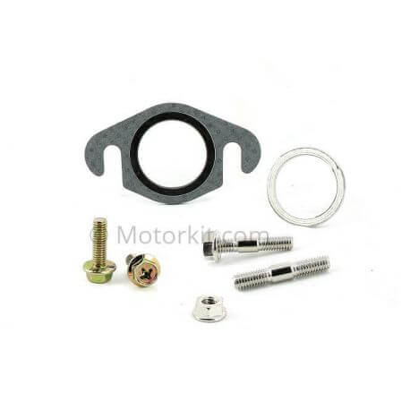 Exhaust M6 mounting screws and gaskets set for scooter - mini bike - 50cc bikes