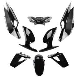 Black fairing set Peugeot Speedfight 4 - 50 and 125cc - 2 and 4 stroke