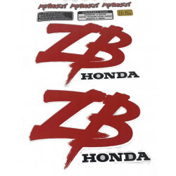 Fuel Tank sticker for Honda ZB - red. Reproduction