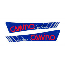 Set of tank stickers for Honda Camino - Red-blue