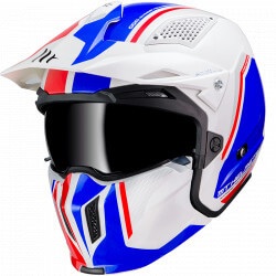 MT STREETFIGHTER SV full modulable helmet - Blue - white - red