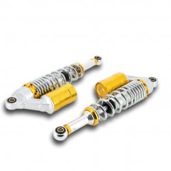 Shockabsorbers 330mm Silver-Gold with gas tank