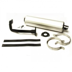 Exhaust silencer with aluminum for scooter with GY6 125cc engine