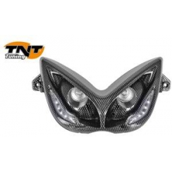 Headlight - front light for Nitro / Aerox R8 : carbon look with white leds
