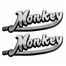 Stickers Monkey chromed