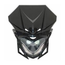 Head light cover universal with leds black